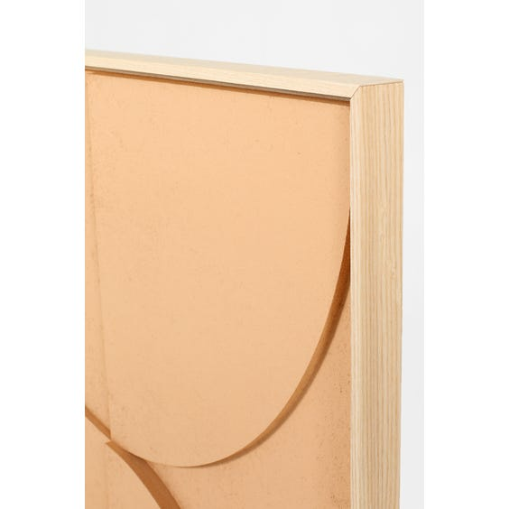 Large muted peach abstract relief panel  image
