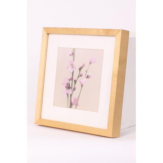 Square pink blossom beige print image