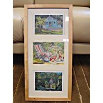 Three framed Sue Wales paintings