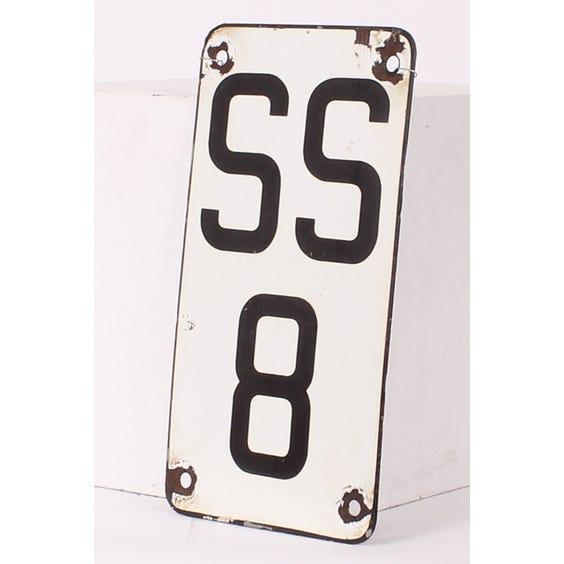 Metal enamel sign '8SS' image