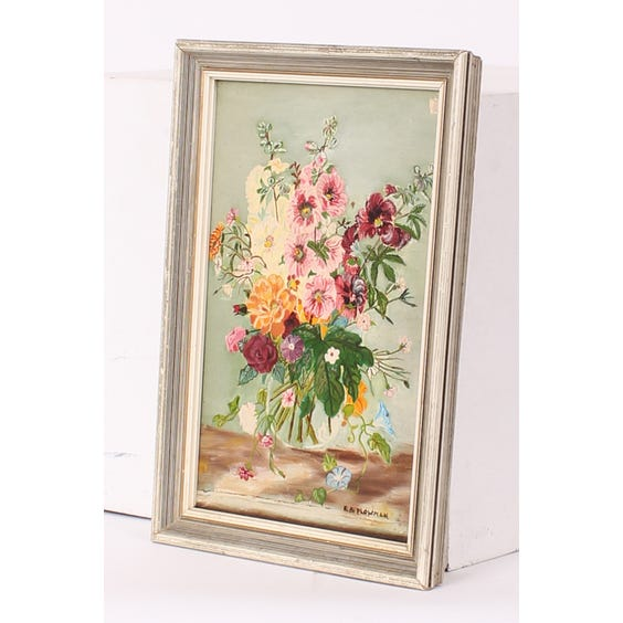 Oil painting of bright flowers image