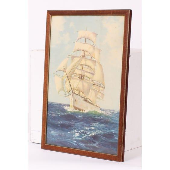 Seascape 'Blue Peter' ship print image
