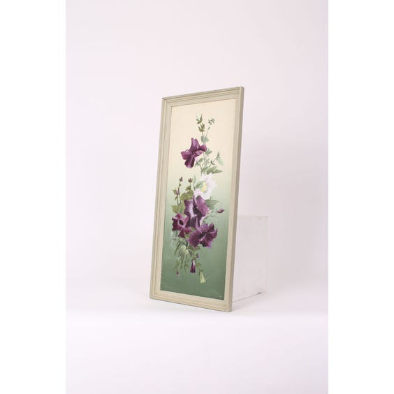 Tall purple flowers oil painting image