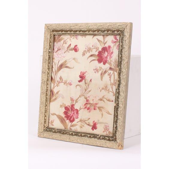 Pink floral printed framed fabric image