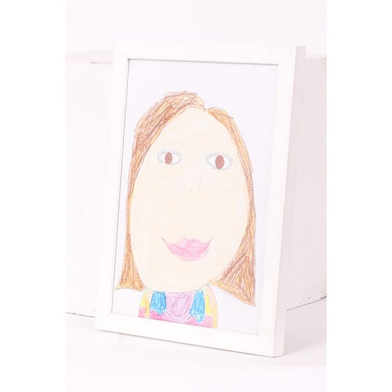 Lola's child self-portrait drawing image