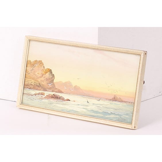Watercolour painting of sunset image