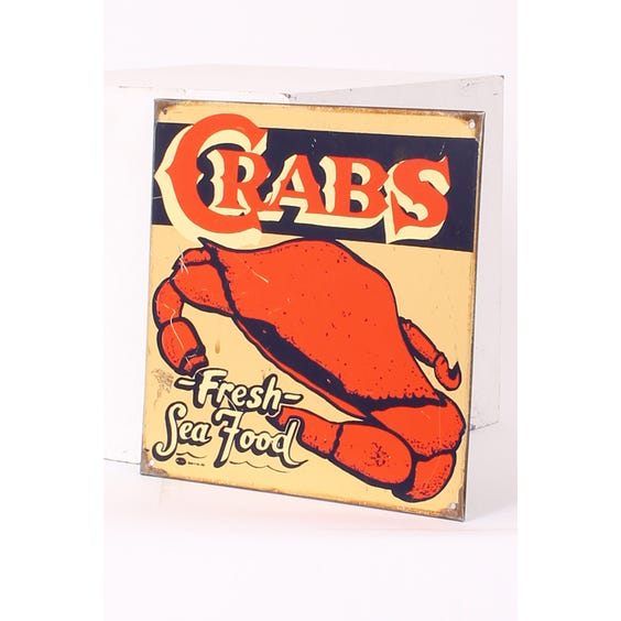 Metal 'Crabs' advertising plaque image