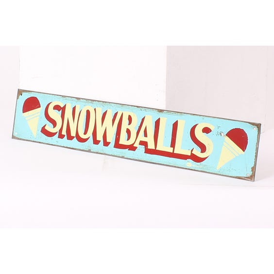 Metal 'Snowballs' advertising plaque image