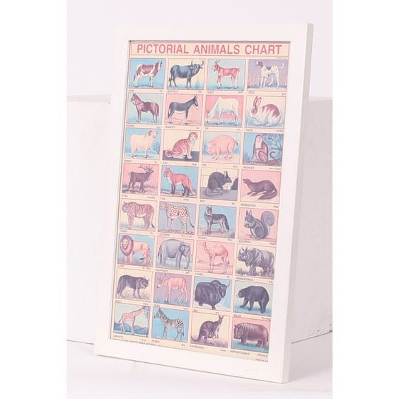 Indian print child's animal chart image
