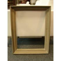 Ornate grey empty wood frame