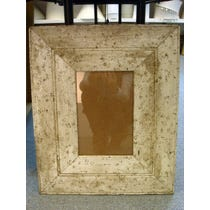 Recycled wood white empty frame