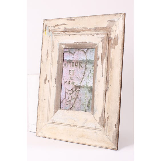 Recycled wood cream empty frame image