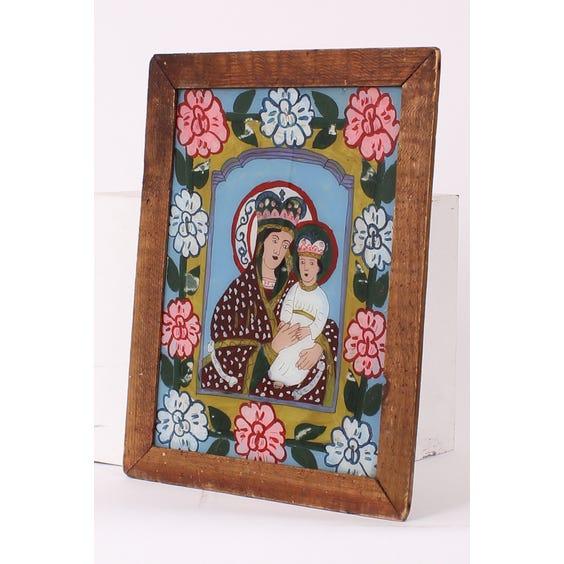 Romanian religious portrait painting image