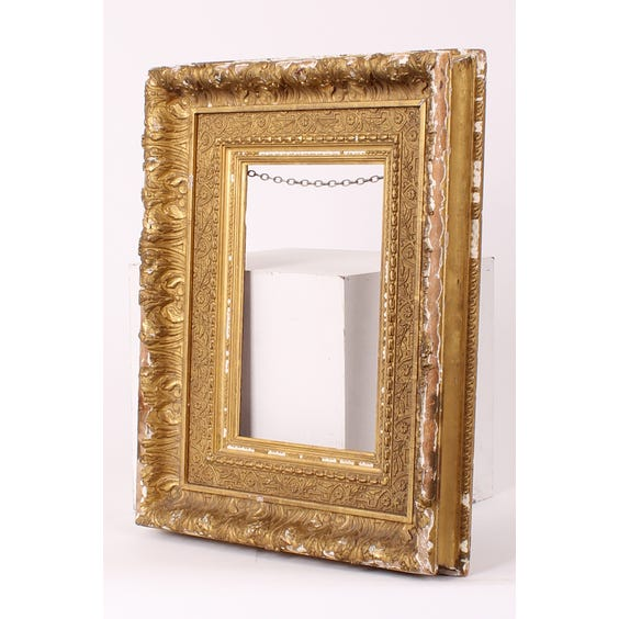Ornate gold gilt empty frame image