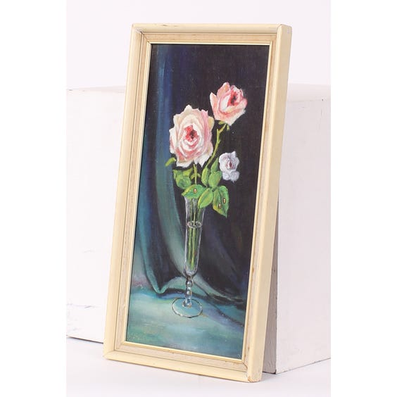 Oil painting of pink roses image