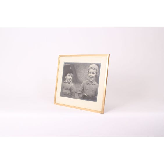 Vintage photograph of two children image