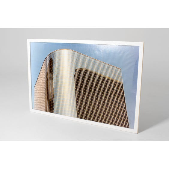 Drino curved glass building print image
