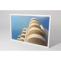 Drino white curved balconies print