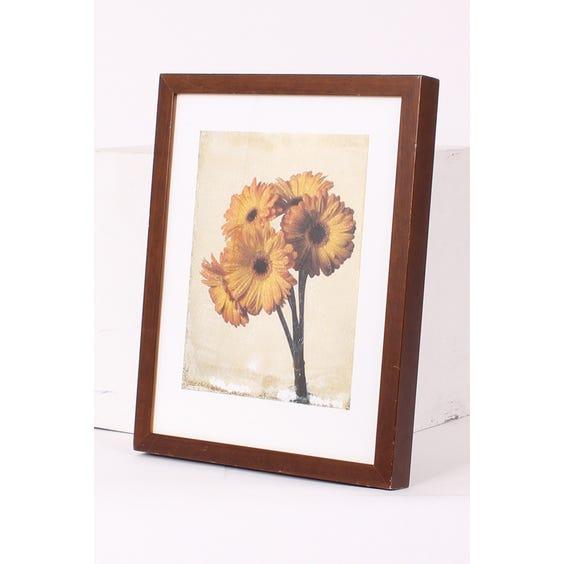 Photograph print of yellow gerberas image