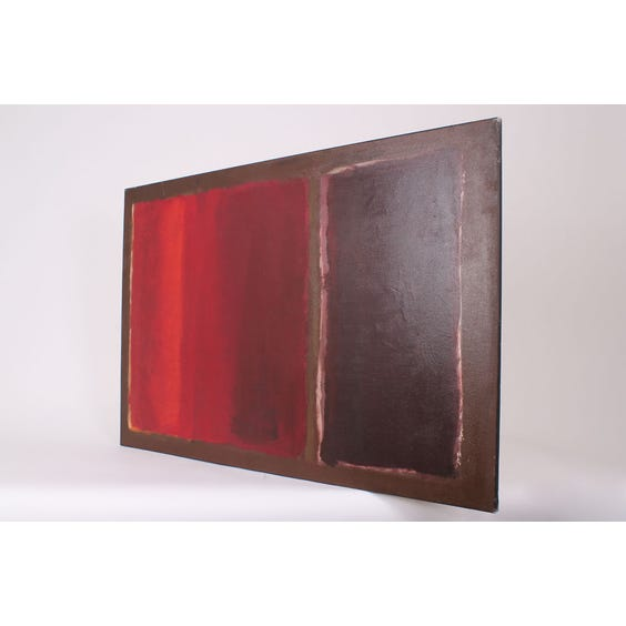 Abstract red block canvas painting image