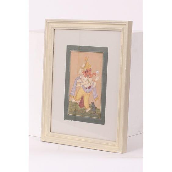 Indian Ganesh handpainted scene image