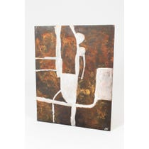 Abstract acid treated brown panel