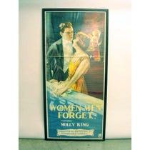 1920s 'Women Men Forget' poster