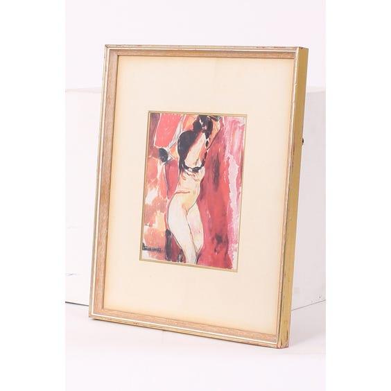 Print of nude female figure image