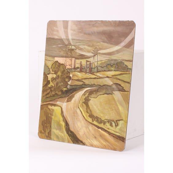 Graphic landscape oil painting image