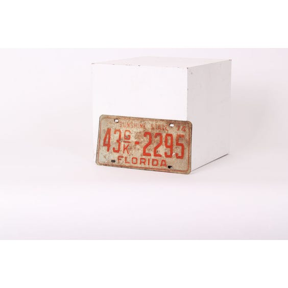 American red tin numberplate '432295' image