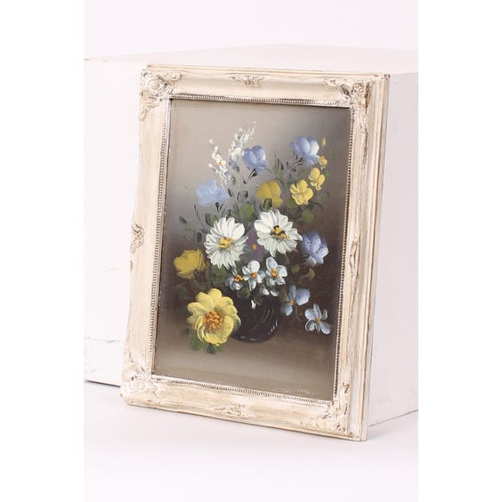 Floral oil painting ornate frame image