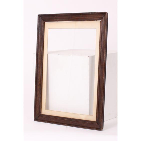 Simple darkwood empty frame image