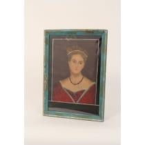 Tudor Queen painted glass portrait