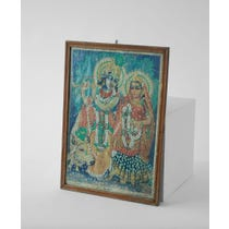 Indian sequined Hindu God print