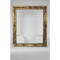 Distressed ornate gilt empty frame