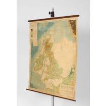 British Isles map wall hanging