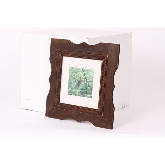 Square carved darkwood photoframe image