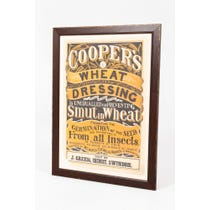 Vintage 'Cooper's Wheat' poster