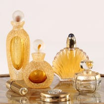 Example of gold bathroom accessories