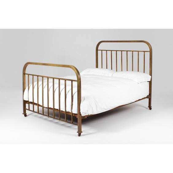 French slatted brass double bed image