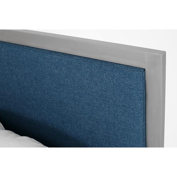 Modern brushed aluminium bed image