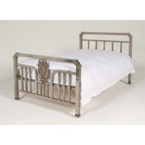 Period Spanish steel medallion bed