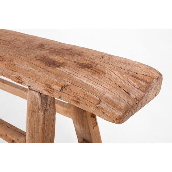 Rustic Chinese elm narrow bench image