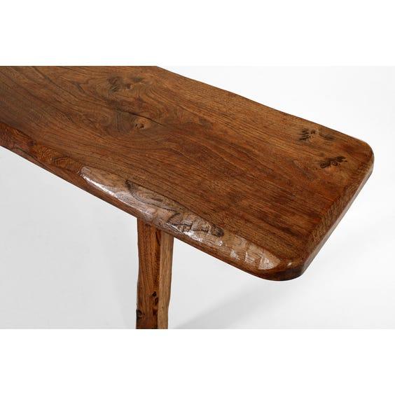 Midcentury Finnish elm bench image