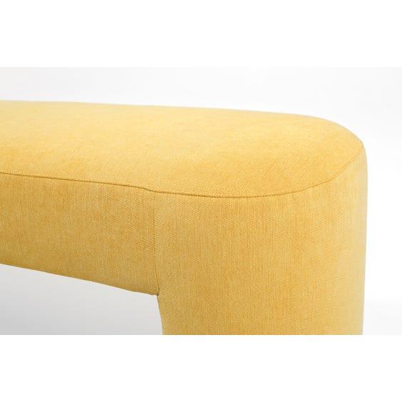 Postmodern gold yellow bench image
