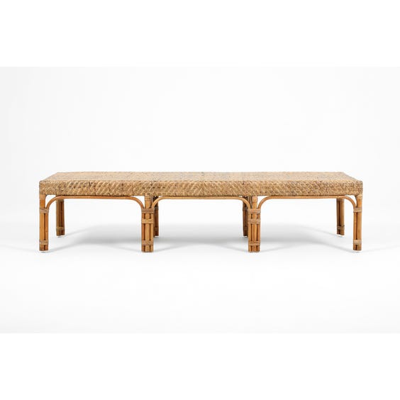 Midcentury Danish rattan bench image