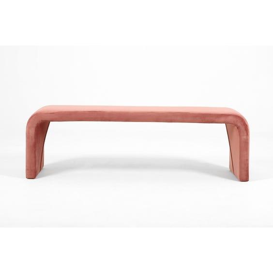 Postmodern dusky pink velvet bench  image