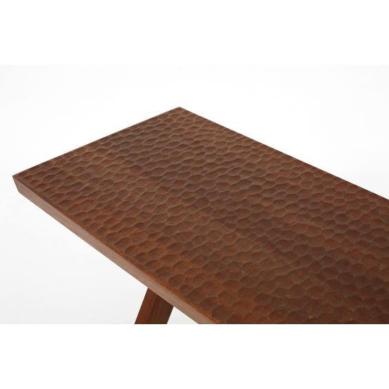 Modern artisanal walnut bench  image
