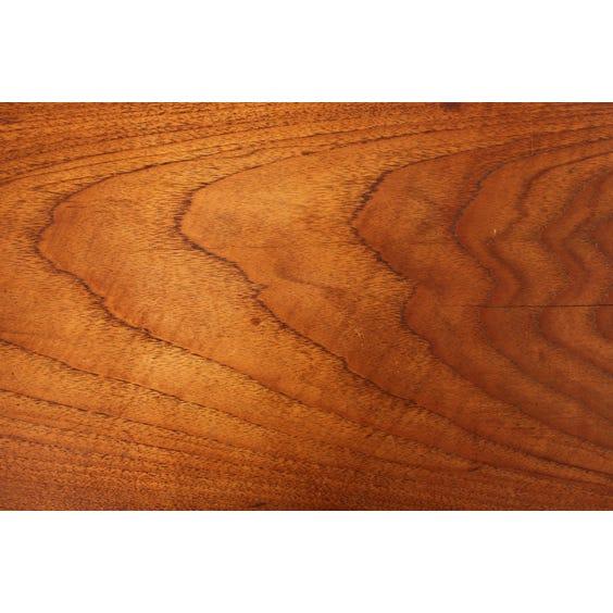 Midcentury solid teak bench  image