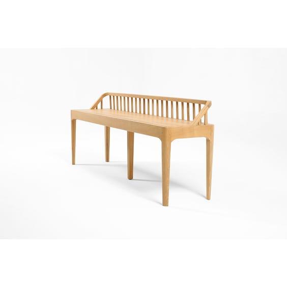 Modern oak spindle back bench image